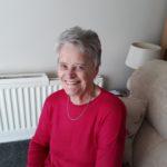 Hazel Fern, Sitting in armchair smiling