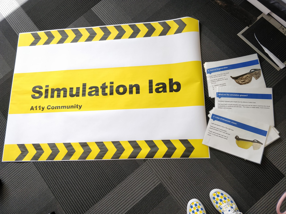 Picture of Simulation lab sign